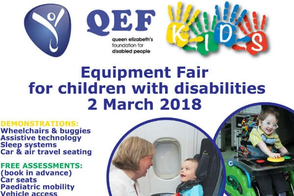 QEF announces latest equipment fair for children with disabilities