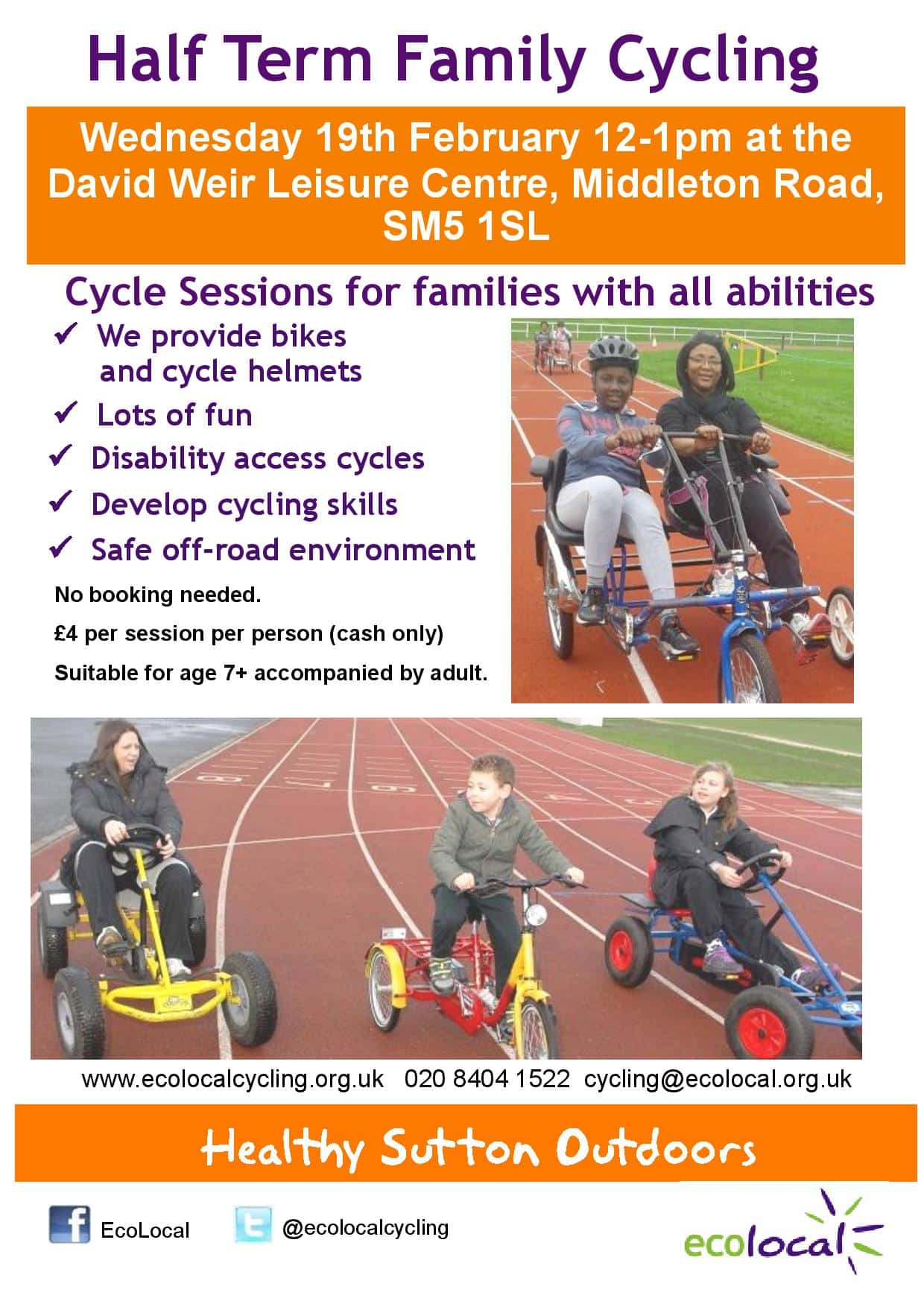 Cycle sessions for all of the family over the February half term